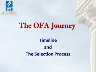 The OFA Journey