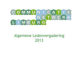Algemene Ledenvergadering  2013