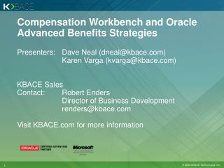 Compensation Workbench and Oracle Advanced Benefits Strategies