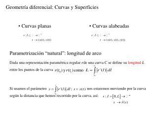 Geometr�a diferencial: Curvas y Superficies