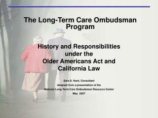 The Long-Term Care Ombudsman Program