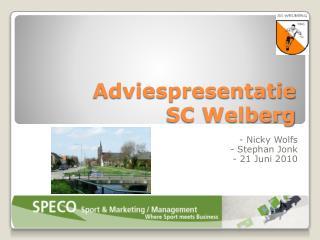 Adviespresentatie SC Welberg