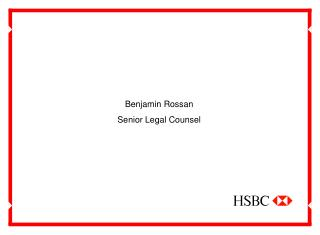 Benjamin Rossan Senior Legal Counsel