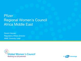 Pfizer  Regional Women's Council Africa Middle East