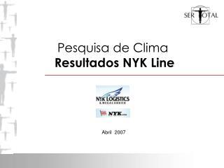 Pesquisa de Clima Resultados NYK Line