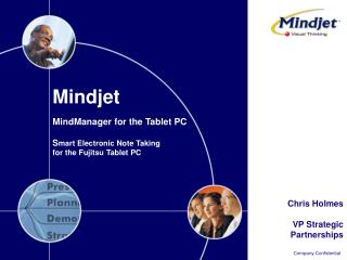 Mindjet  MindManager for the Tablet PC S mart Electronic Note Taking for the Fujitsu Tablet PC