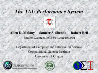 The TAU Performance System