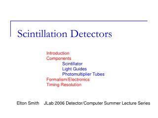 Scintillation Detectors