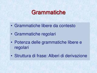 Grammatiche