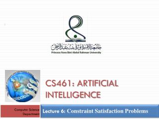 Lecture  6:  Constraint Satisfaction Problems