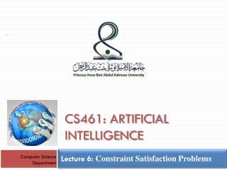 Lecture  6:  Constraint Satisfaction Problems
