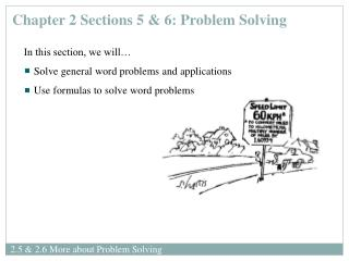 2.5  2.6 More about Problem Solving