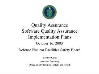 Quality Assurance Software Quality Assurance Implementation Plans