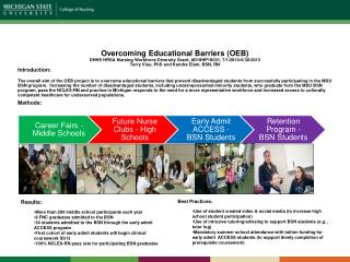 Overcoming Educational Barriers (OEB)