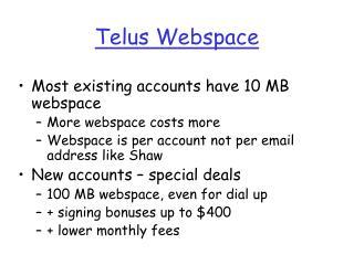 Telus Webspace