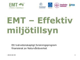 EMT – Effektiv miljötillsyn