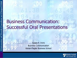 Business Communication:  Successful Oral Presentations