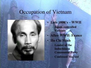 Occupation of Vietnam