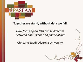 Together we stand, without data we  fall