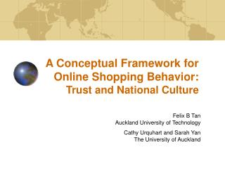 A Conceptual Framework for Online Shopping Behavior: Trust and National Culture