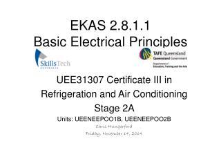 EKAS 2.8.1.1 Basic Electrical Principles