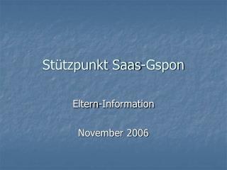 Stützpunkt Saas-Gspon