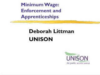 Minimum Wage: Enforcement and Apprenticeships