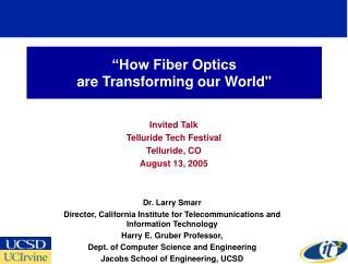 """""""How Fiber Optics  are Transforming our World"""