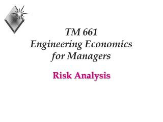 TM 661 Engineering Economics  for Managers