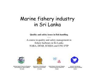 Marine fishery industry  in Sri Lanka