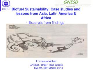 Biofuel  Sustainability: Case studies and lessons from Asia, Latin America & Africa