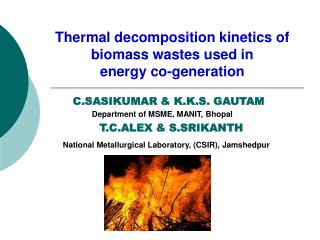 National Metallurgical Laboratory, (CSIR), Jamshedpur