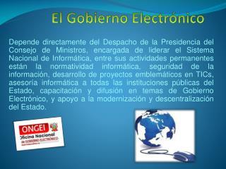 El  Gobierno Electrónico