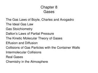 Chapter 8 Gases