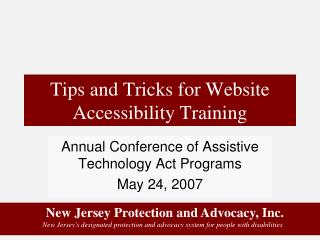 Tips and Tricks for Website Accessibility Training