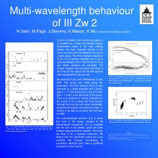 Multi-wavelength behaviour                    of III Zw 2