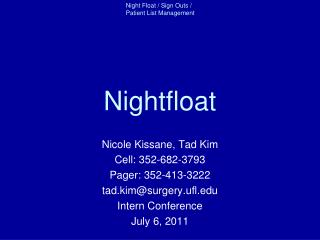 Nightfloat