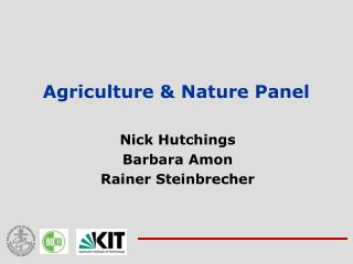 Agriculture & Nature Panel