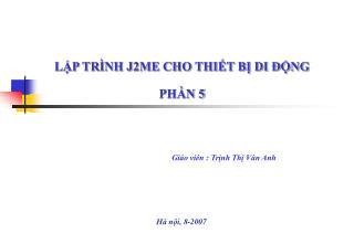 Gi áo viên  : Trịnh Thị Vân Anh