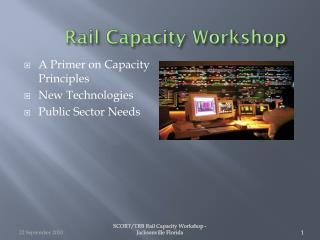 Rail Capacity Workshop