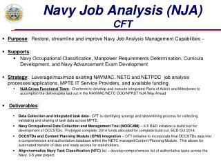Navy Job Analysis (NJA)  CFT
