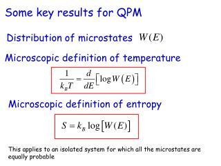 Microscopic definition of temperature