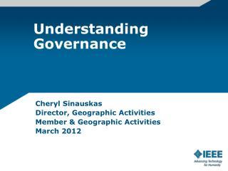 Understanding Governance