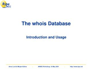 The whois Database