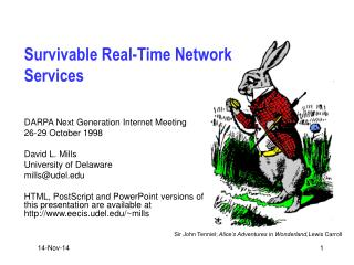 Survivable Real-Time Network Services