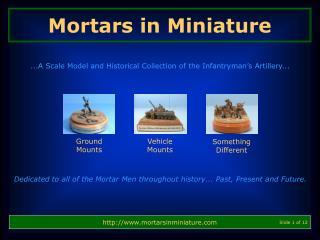 Mortars in Miniature