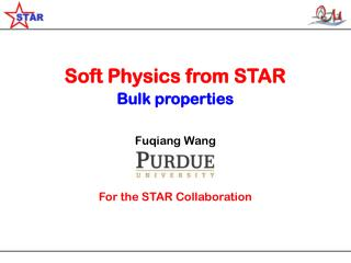 Soft Physics from STAR Bulk properties