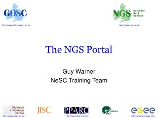 The NGS Portal