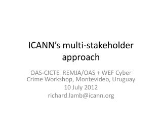 ICANN's multi-stakeholder approach