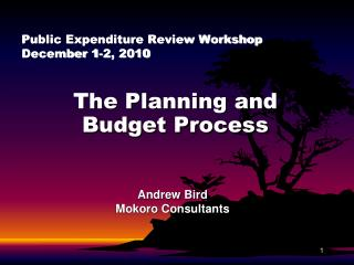 Public Expenditure Review Workshop December 1-2, 2010